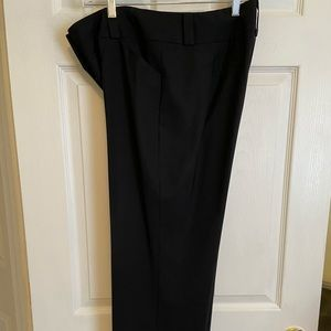 Talbots stretch black wool straight leg pants